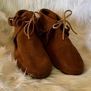 Size 10 Suede Moccasins with Fringe